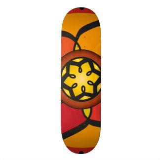 Skate table with geometric drawings skate board decks