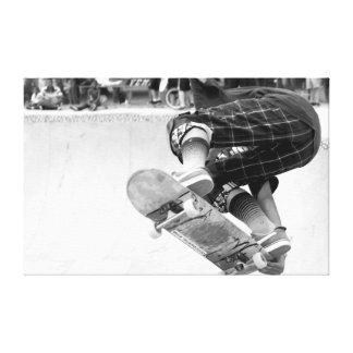 Skate Tricks Stretched Canvas Prints