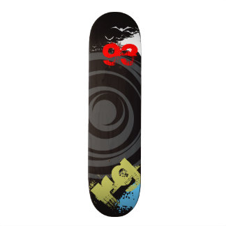 Skate Twister Personalize Initials and Birth Year Custom Skateboard