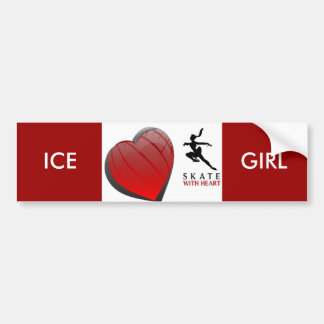 SKATE WITH HEART BUMPER STICKERS