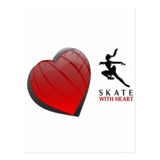 SKATE WITH HEART POSTCARD