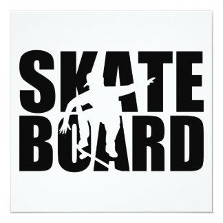 Skateboard 13 Cm X 13 Cm Square Invitation Card