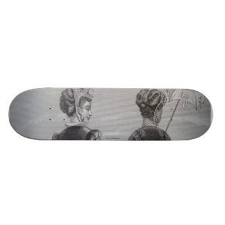 Skateboard, 19th century fashion illustration 21.6 cm skateboard deck