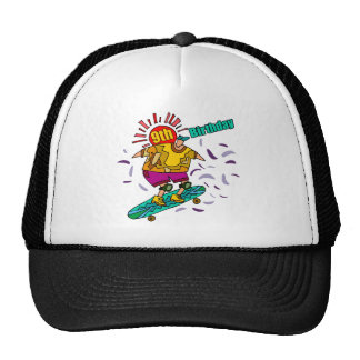 Skateboard 9th Birthday Gifts Cap