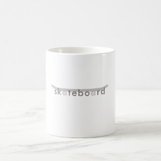 skateboard basic white mug