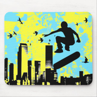 skateboard. board with birds. mouse pad