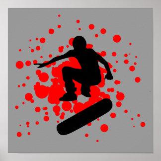 skateboard : bubbles : poster