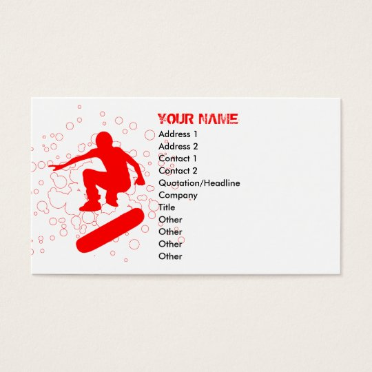 skateboard bubbles : red rays business card
