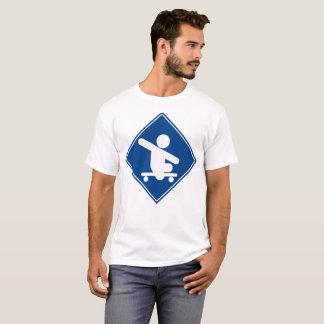Skateboard Crossing Blue T-Shirt