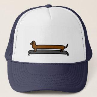 Skateboard dachshund dog trucker cap/ hat
