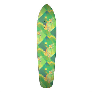 Skateboard Dancing Gardener 2 Abstract Green Gold