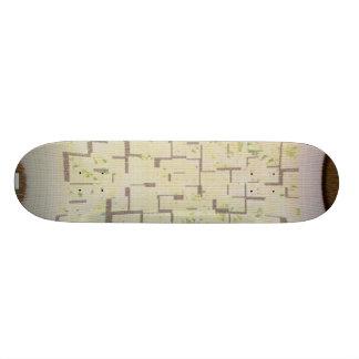 Skateboard Deck Design: White Warp Universe