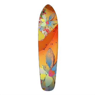 Skateboard Desert Flower Design