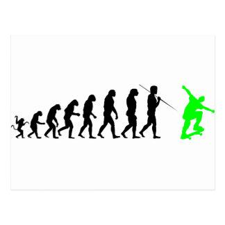 skateboard_evolution post card