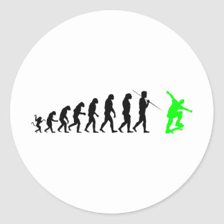 skateboard_evolution round sticker