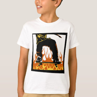 Skateboard flames t-shirt