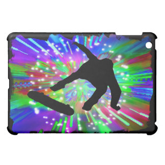 Skateboard Flip Out in Fireworks Case For The iPad Mini