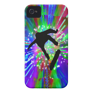 Skateboard Flip Out in Fireworks iPhone 4 Case-Mate Case