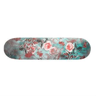skateboard flowers pastel