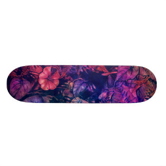skateboard flowers purple