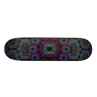 Skateboard: Fractal Explosion: Design #1 Custom Skate Board