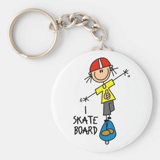 Skateboard Gift Key Ring