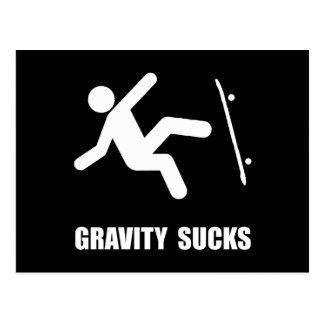 Skateboard Gravity Postcard