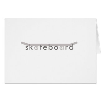 skateboard greeting card