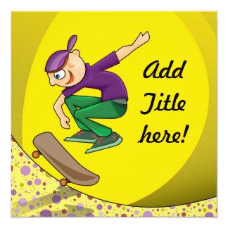 Skateboard Kid Invitation - Card Design