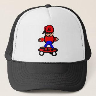 Skateboard Kid Trucker Hat
