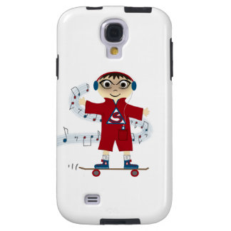 Skateboard Kid With Headphones Galaxy S4 Case