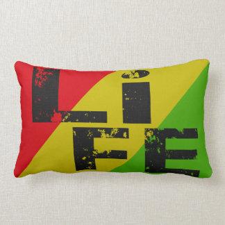 Skateboard Life Throw Pillow Rasta Red Gold Green Throw Cushion