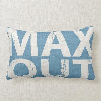 Skateboard Max Out Word Art Throw Denim Blue Throw Cushions