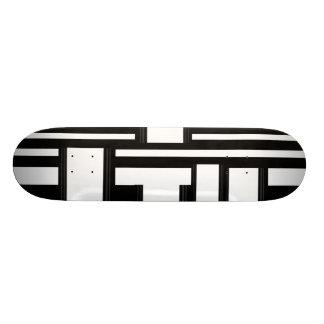 Skateboard Modern Black White Stripe Skateboard Deck