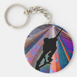 Skateboard on a Building Ray Basic Round Button Key Ring
