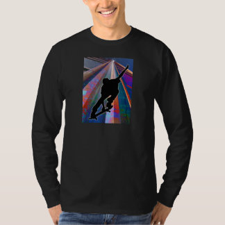Skateboard on a Building Ray Shirts