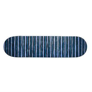 Skateboard, Painted Stripes, Lt. Blue and Blue 19.7 Cm Skateboard Deck