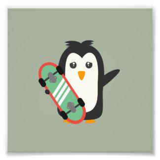Skateboard Penguin Photo