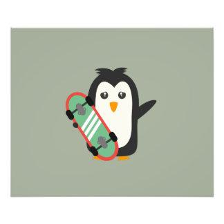 Skateboard Penguin Photo Print