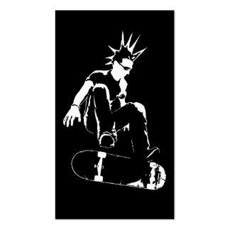 skateboard punk pack of standard business cards