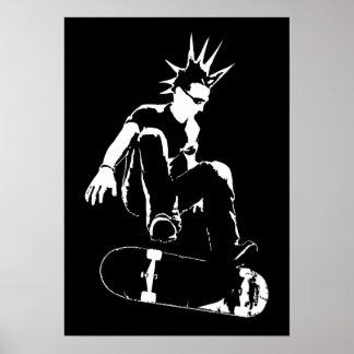 skateboard punk poster