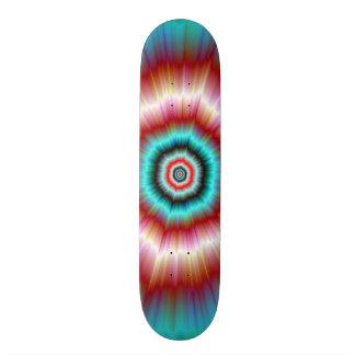 Skateboard    Red and Blue Exploding Doughnut