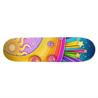 Skateboard - Retro Pop Art Sixties Sky
