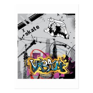 Skateboard Skateboarder SK8 Skate Graffiti Postcards