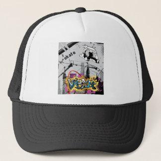 Skateboard Skateboarder SK8 Skate Graffiti Trucker Hat