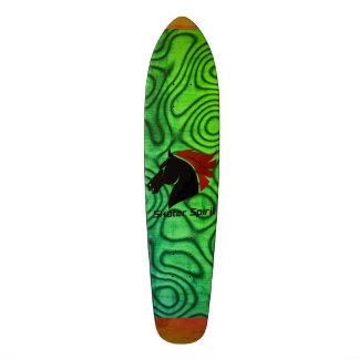 """Skateboard """"Skater Spirit"""" green+abstract sample"""