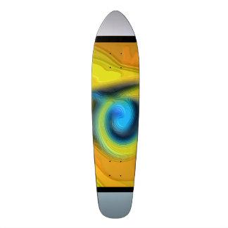 "#Skateboard ""Street Skaten"" yellow orang Skate Board Deck"