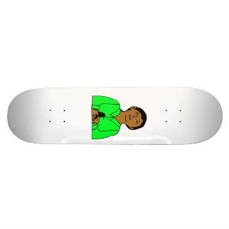 Skateboard Tibbs Drawing Original Color Green