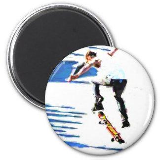 Skateboard Tricks 6 Cm Round Magnet