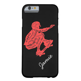 Skateboard Typography - Custom iPhone 6 Case